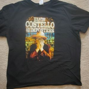 Elvis Costello and the imposters 2016 tour shirt